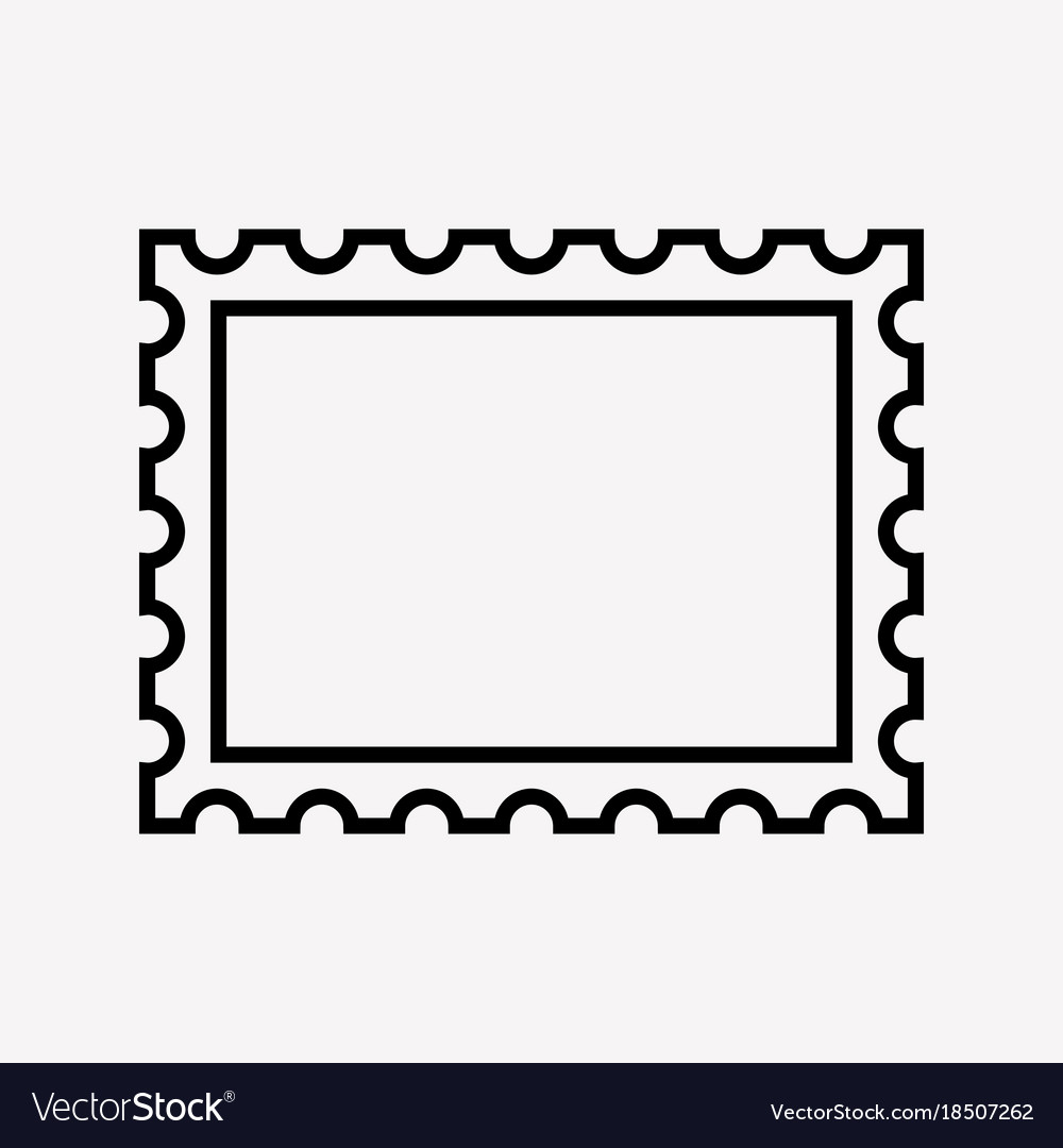 Postage stamp icon Royalty Free Vector Image - VectorStock