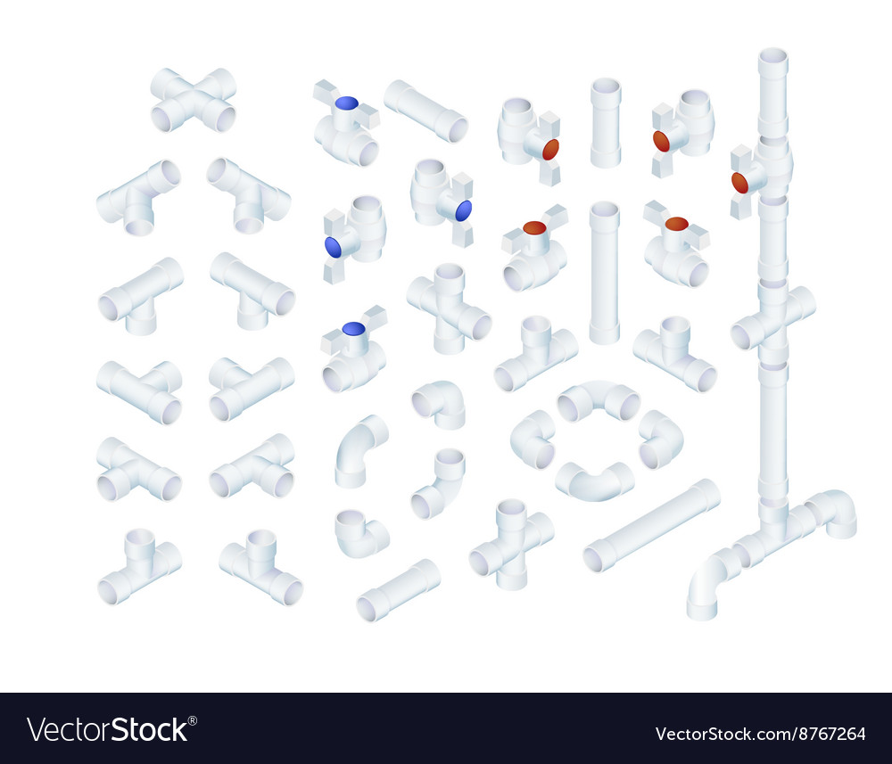 Isometric plumbing elements royalty free vector image isometric plumbing elements vector image pooptronica Image collections