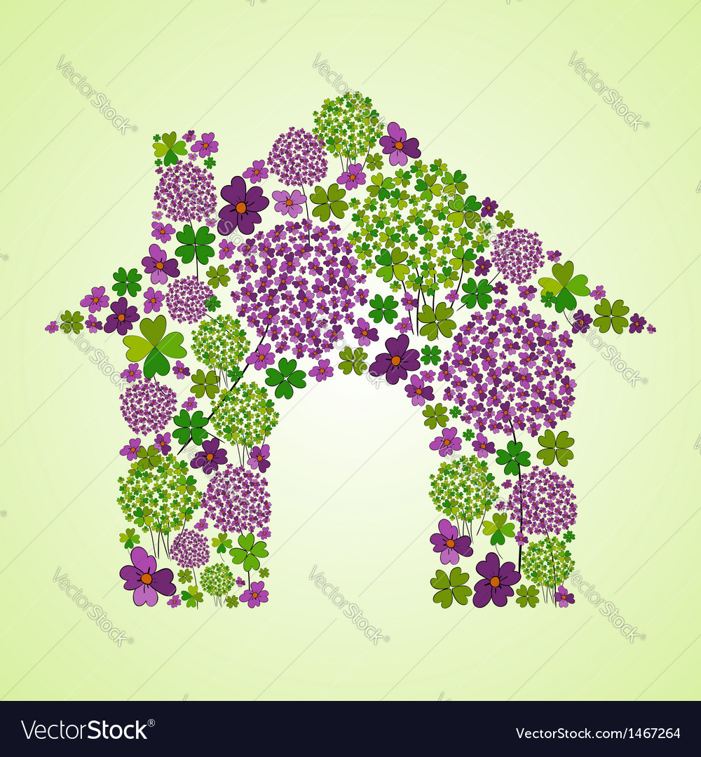 Spring house icon vector image