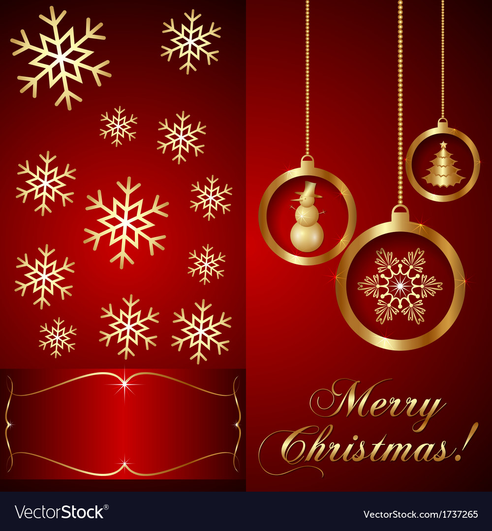 Red christmas invitation card royalty free vector image red christmas invitation card vector image stopboris Image collections