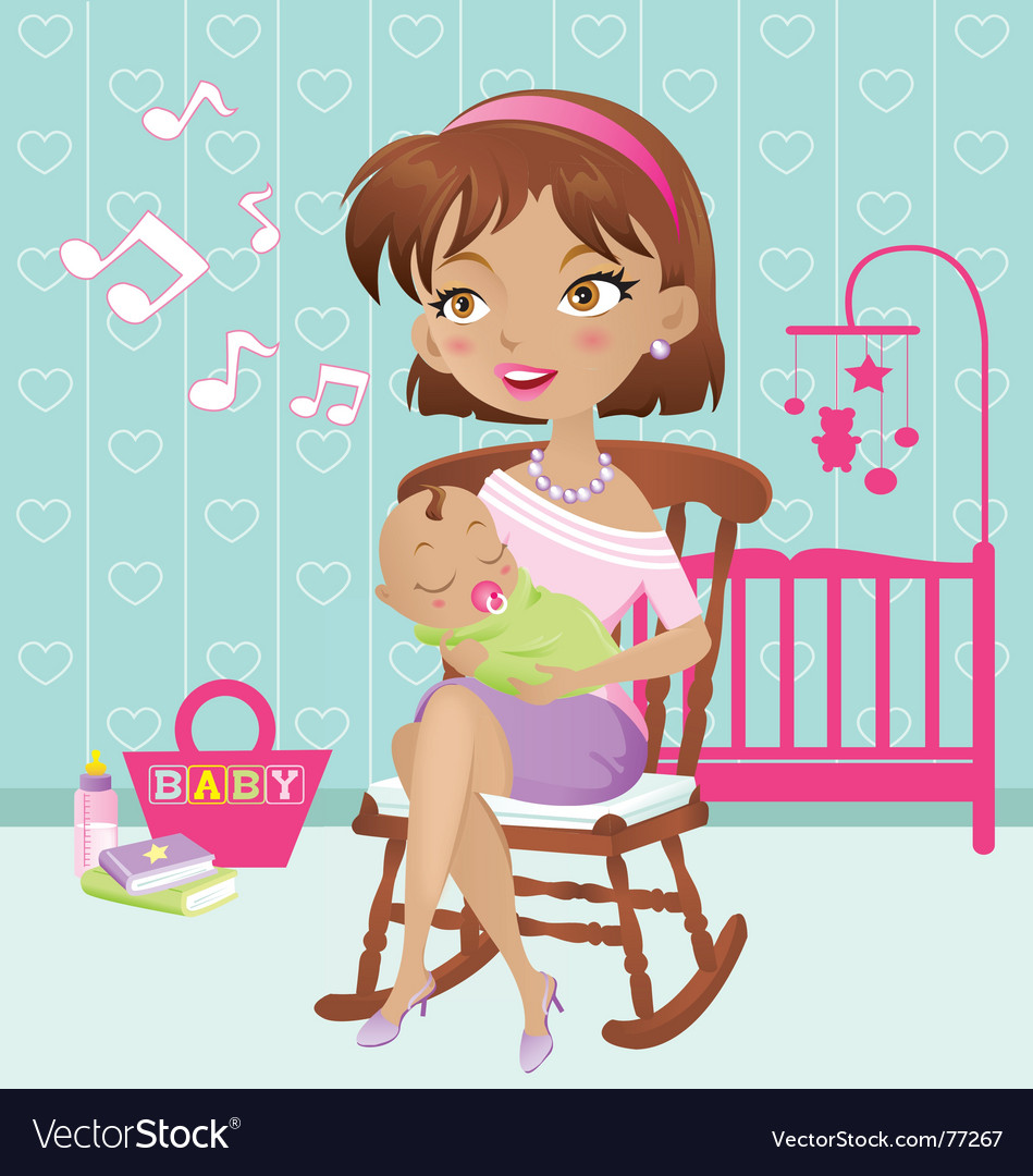 Lullaby baby vector image