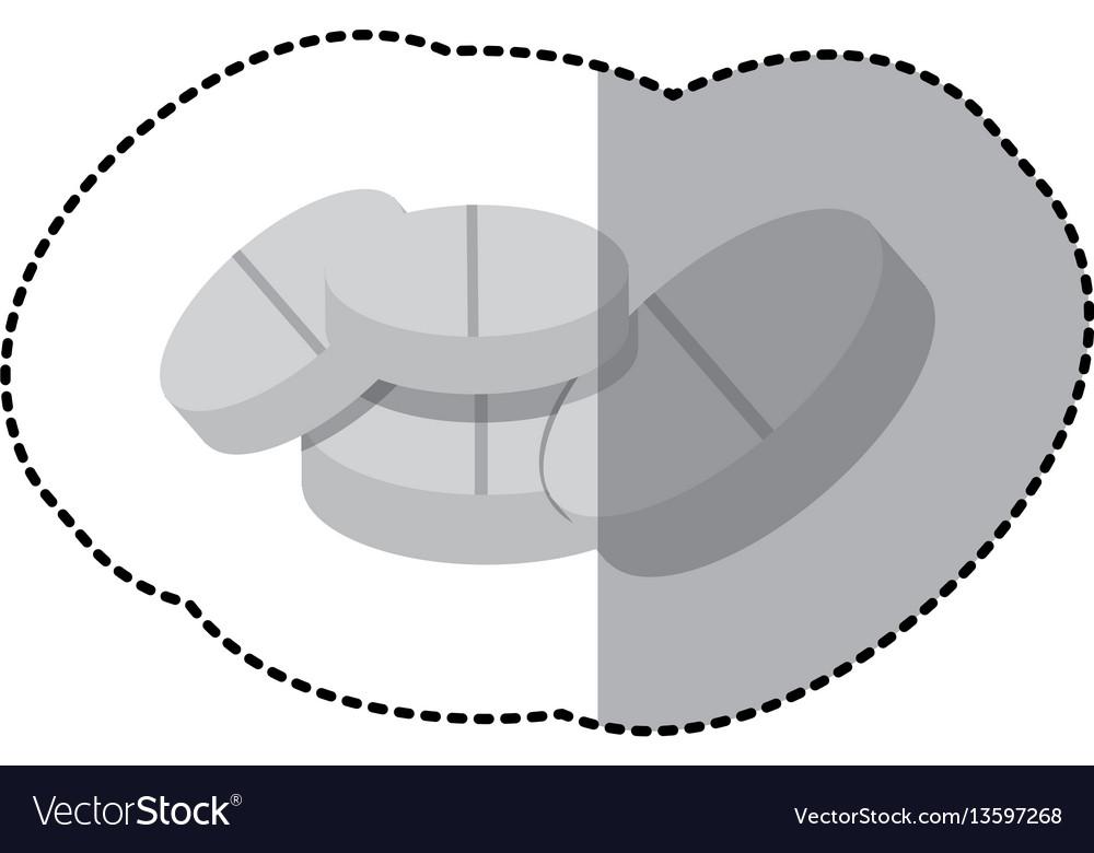 Color tablets medication icon vector image