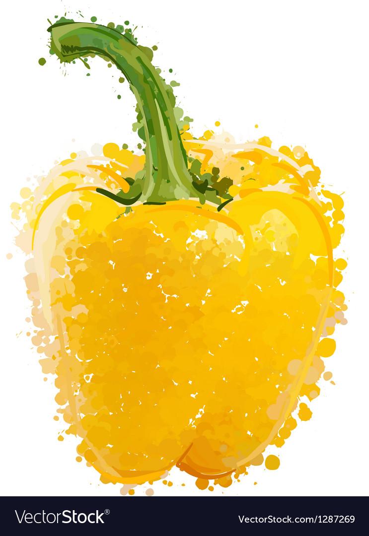 Yellow sweet pepper of blots vector image