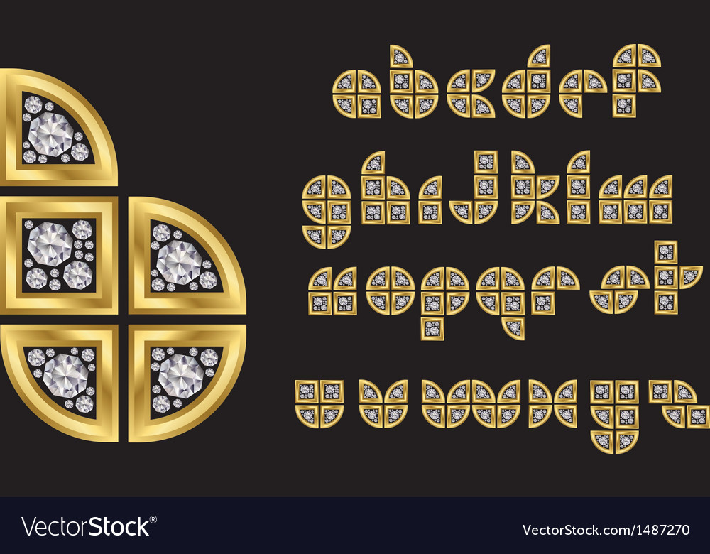 Decorative alphabet vector image