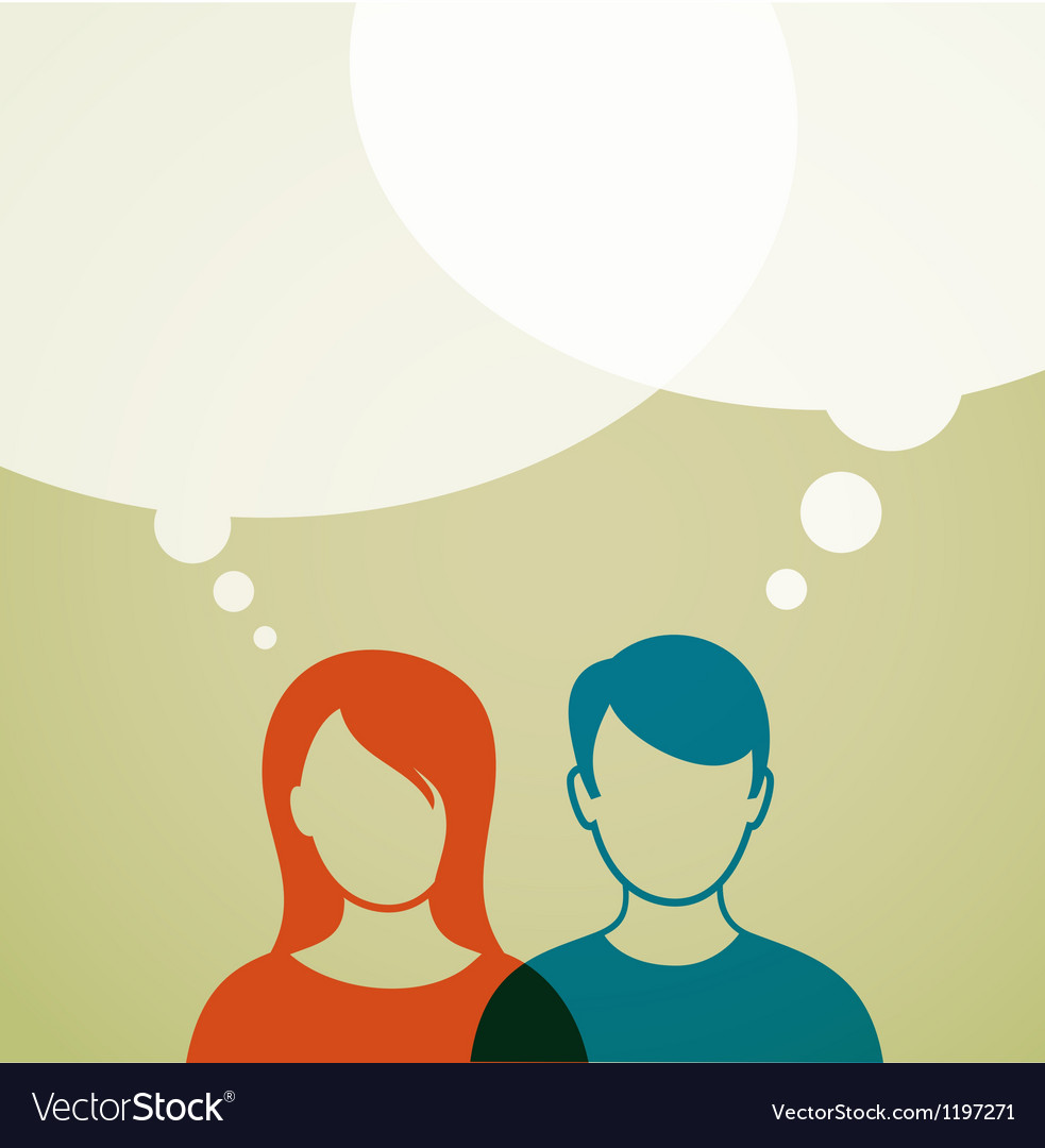 People with speech bubbles vector image