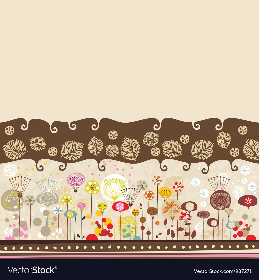 Decorative Floral Background vector image