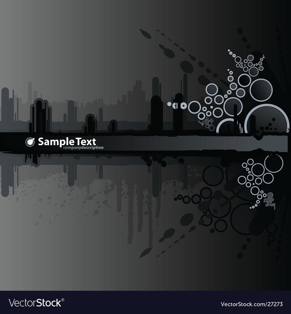 Dark splatter retro urban banner vector image