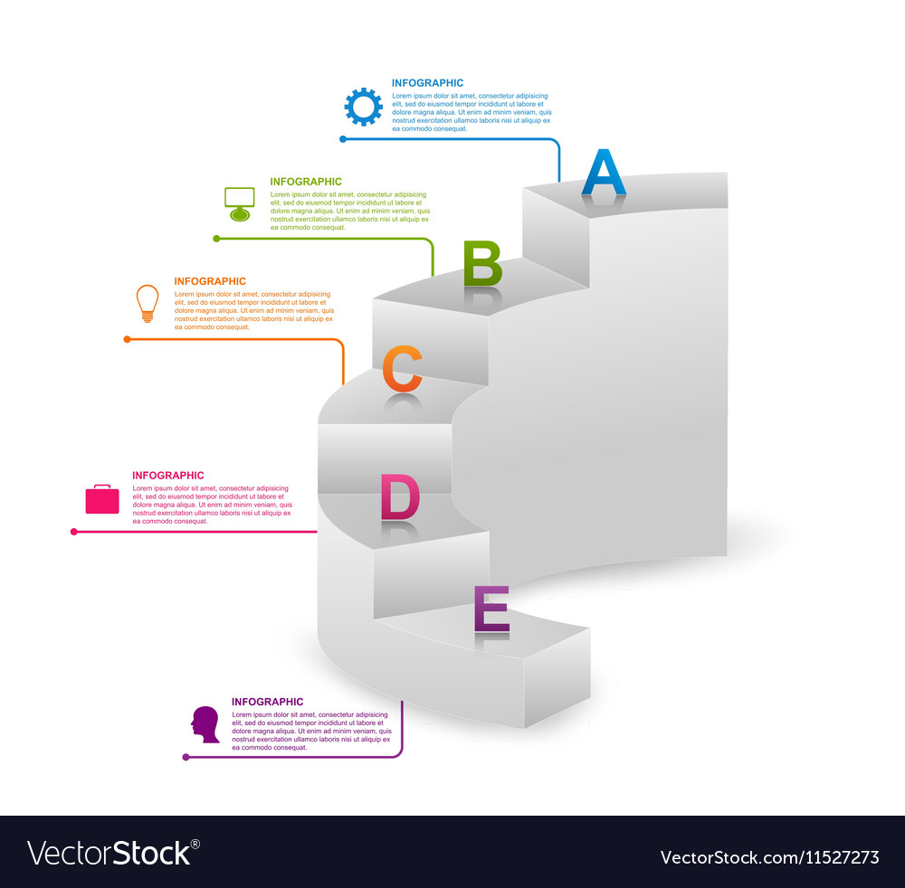 Infographics as steps for business presentations vector image