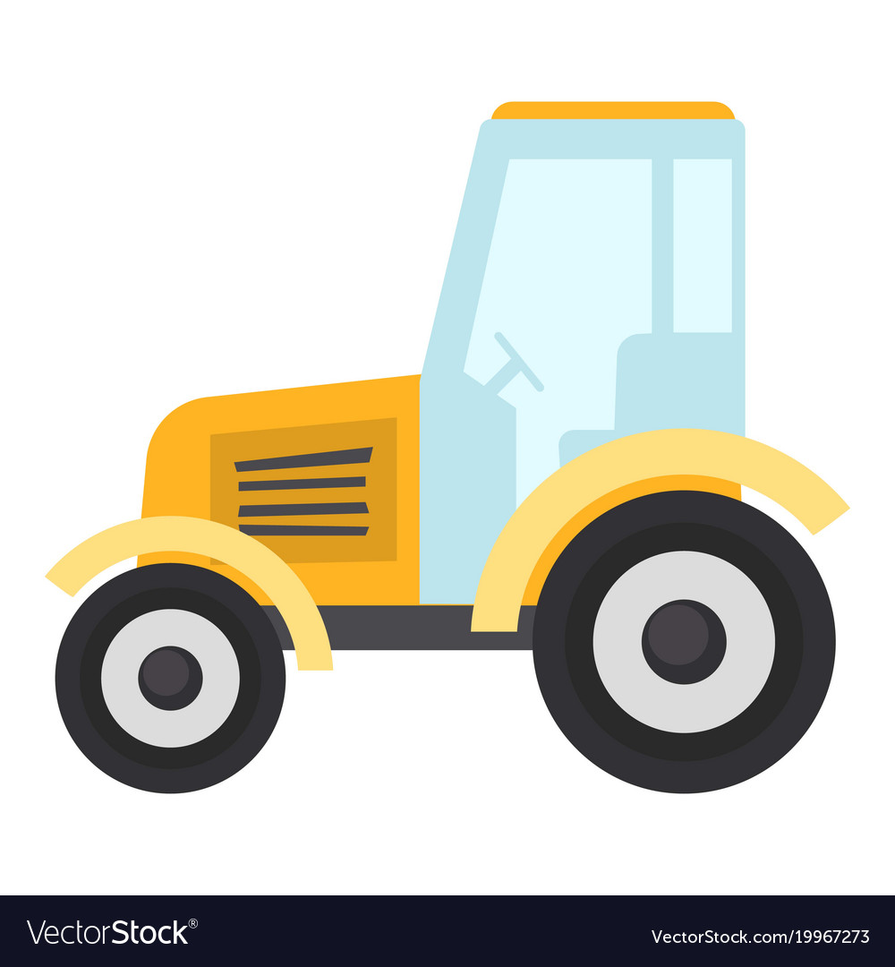 Tractor icon flat style vector image