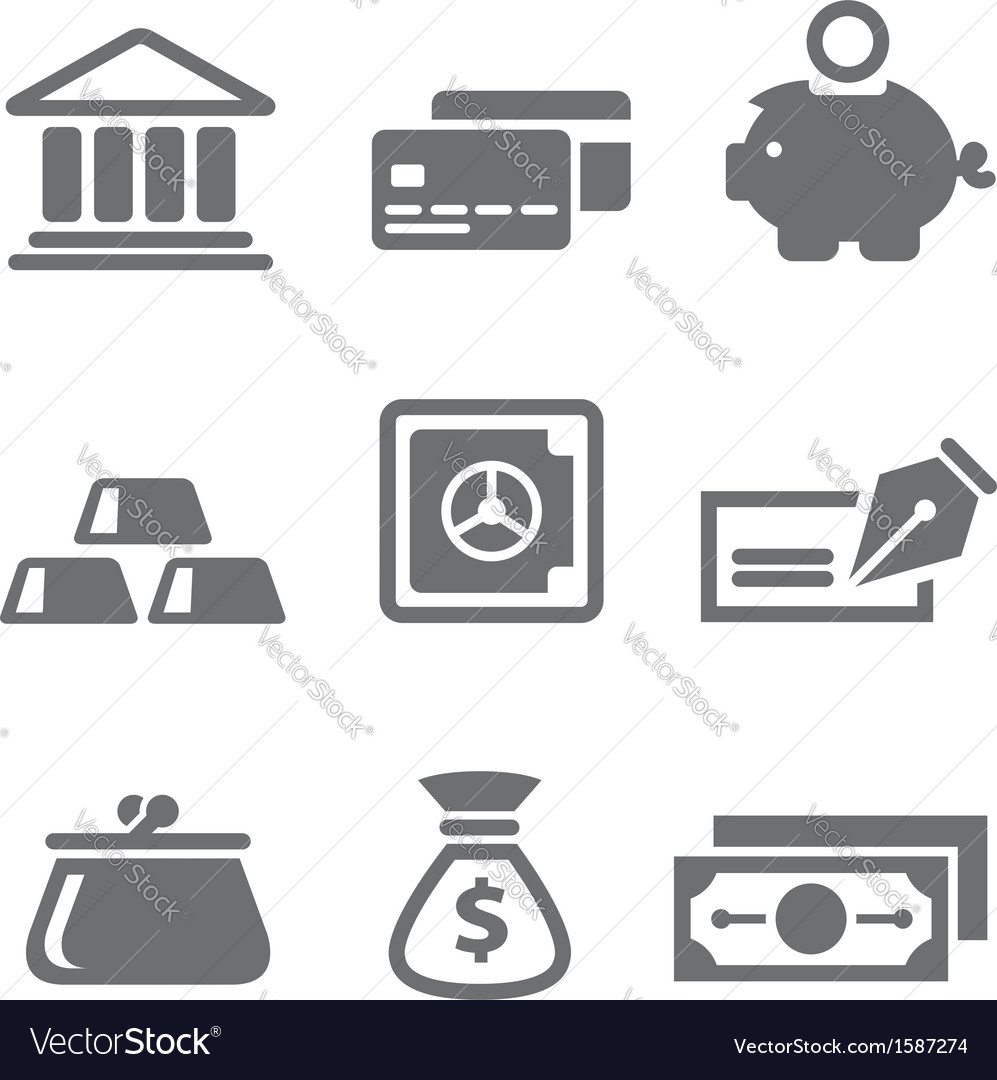 Finance and money icons vector image