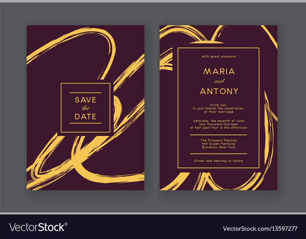 Trendy Wedding Invitation Royalty Free Vector Image