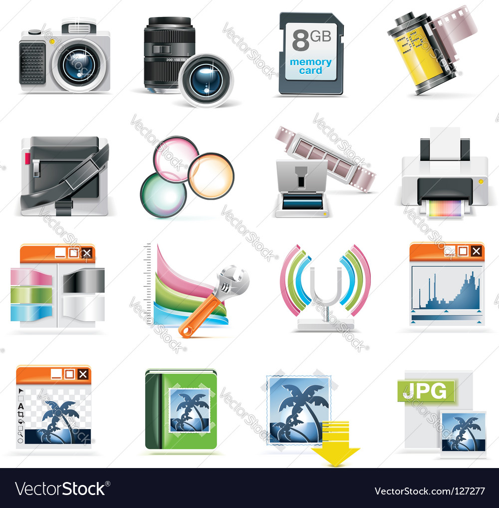 Photography icon vector image