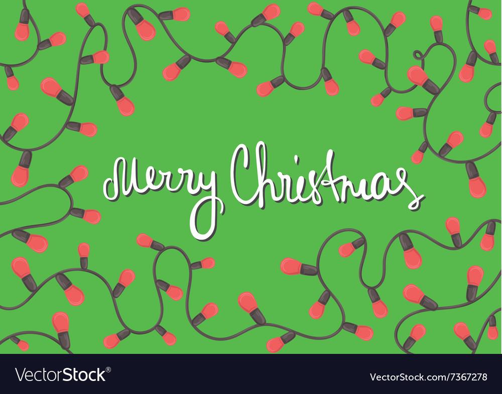 Horizontal template Christmas card vector image
