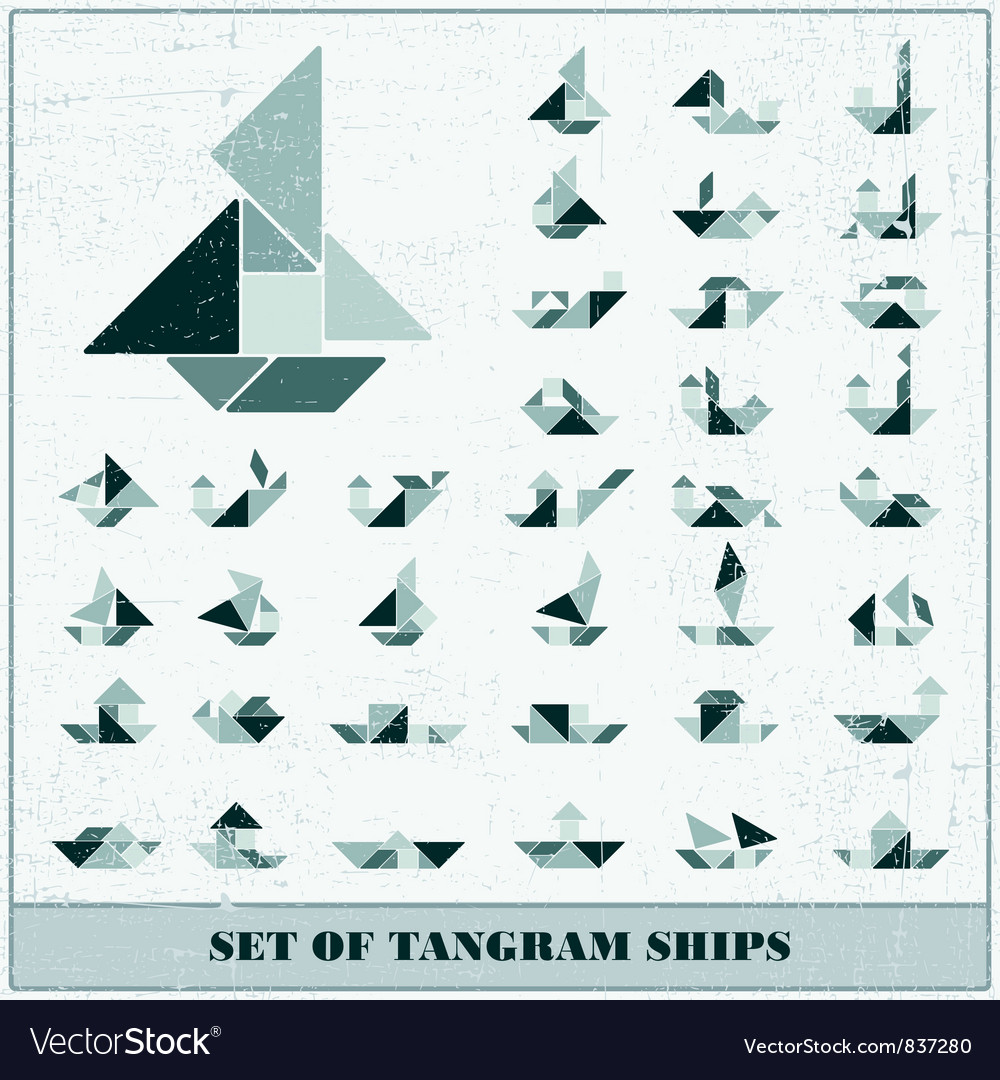 Set of ships vector image