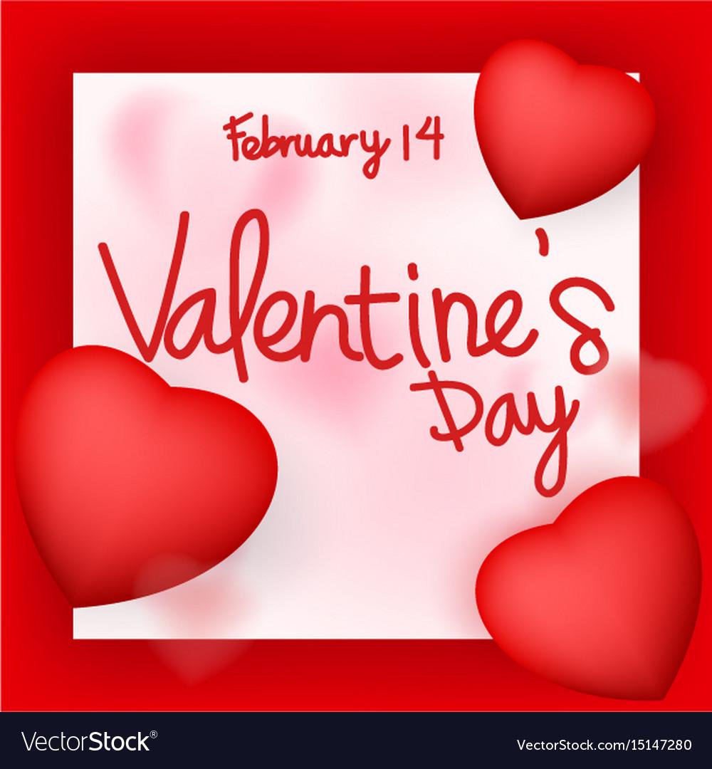 Valentine day card design vector image