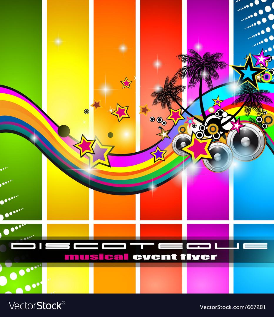 Discotheque flyer vector image