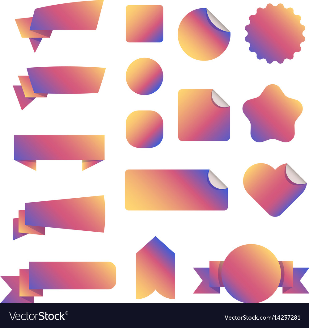 Special offer banners and discount tags vector image