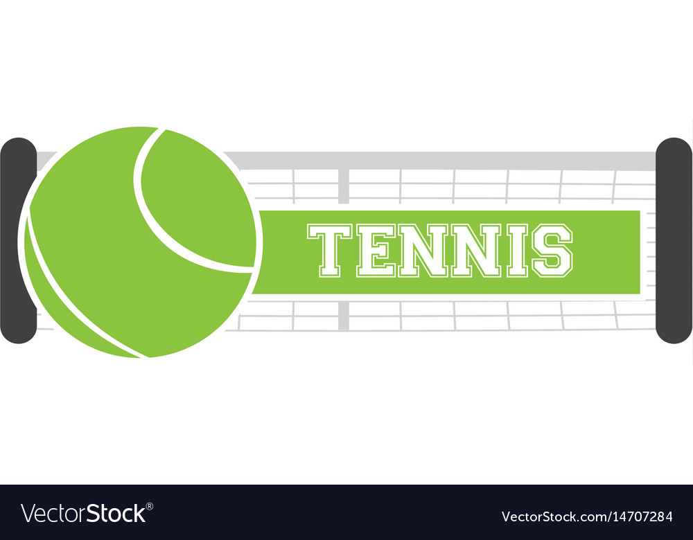 Isolated tennis net vector image