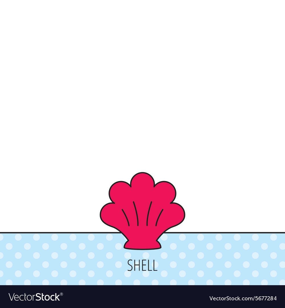 Sea shell icon Seashell sign vector image