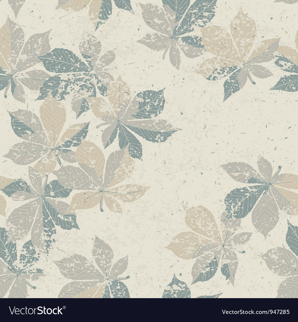 Autumn nature themed seamless pattern eps10 vector image