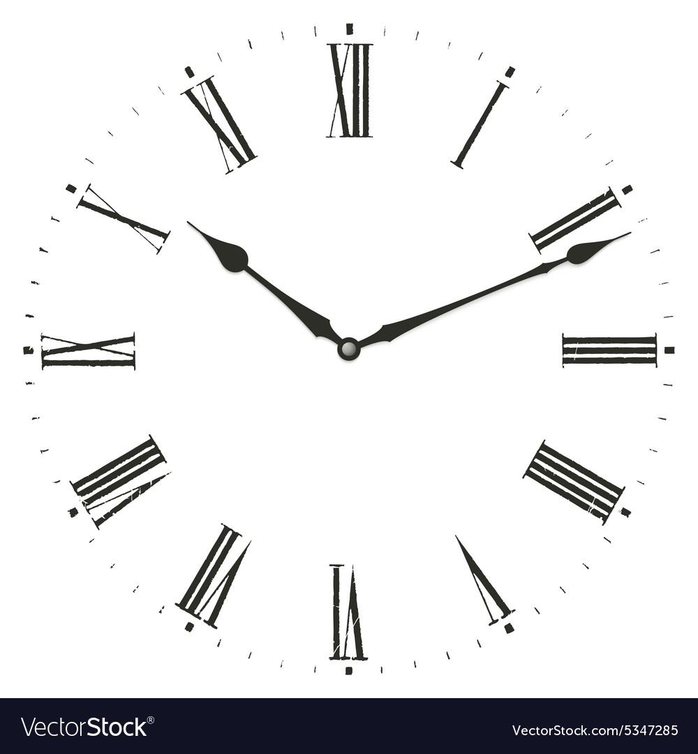 Roman numeral clock Royalty Free Vector Image - VectorStock