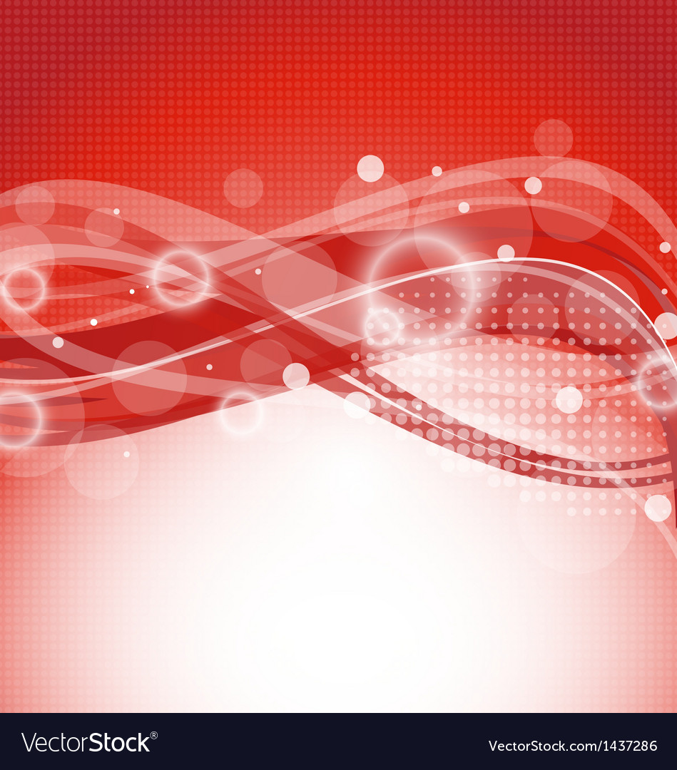 Abstract red magic wavy background vector image