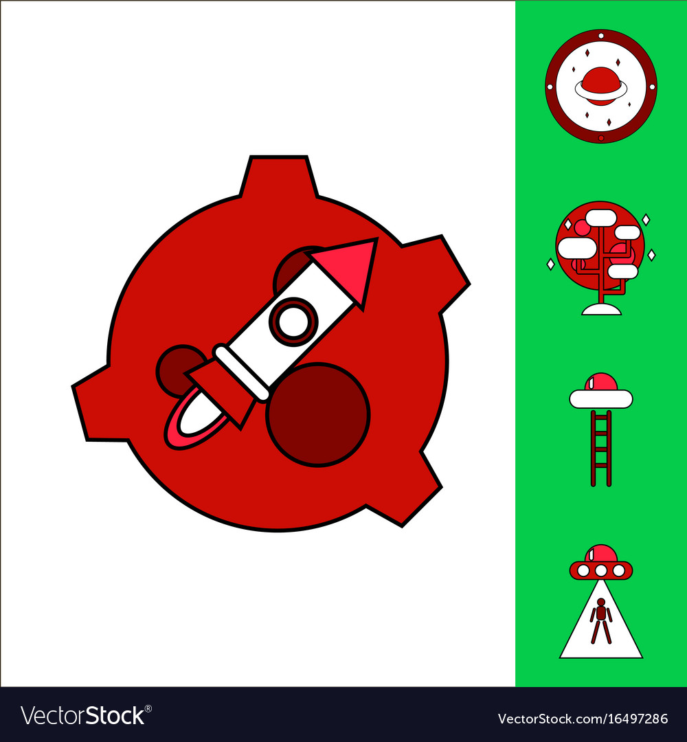 ufo icon icon cartoon