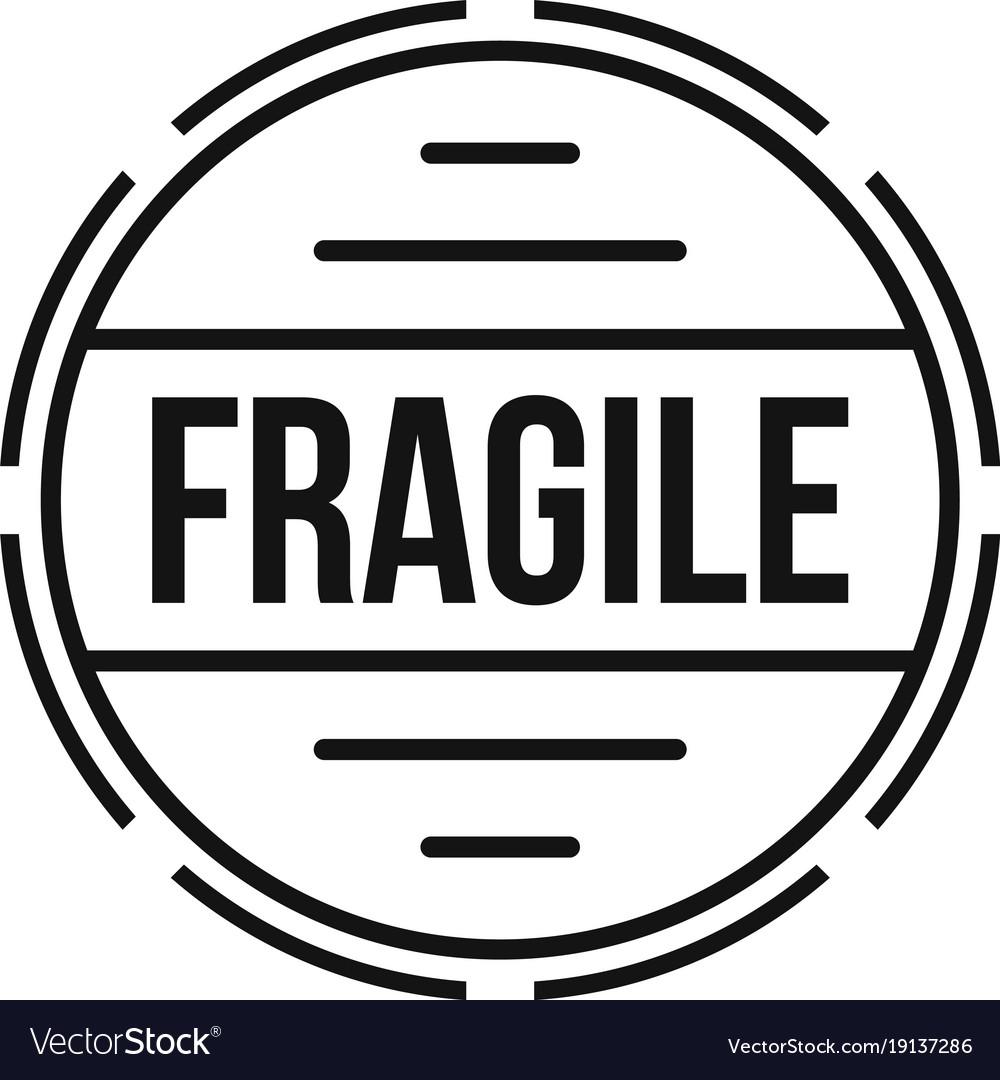 fragile logo simple style royalty free vector image rh vectorstock com fragile logo png fragile logo to print