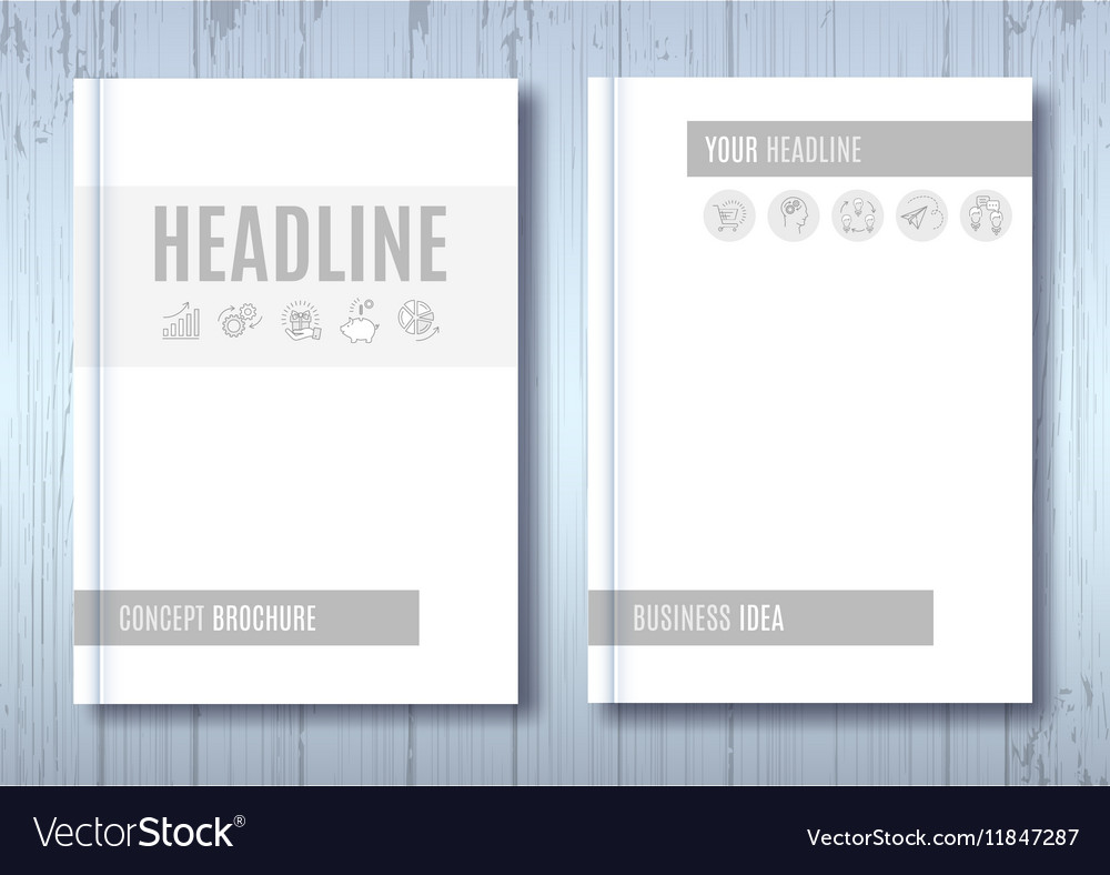 Brochure Mockup Blank Magazine Cover Template Vector Image - Brochure blank template