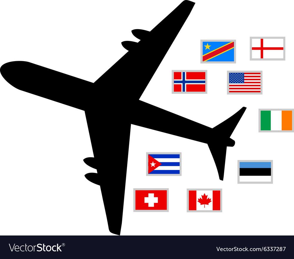 World planet travel vector image