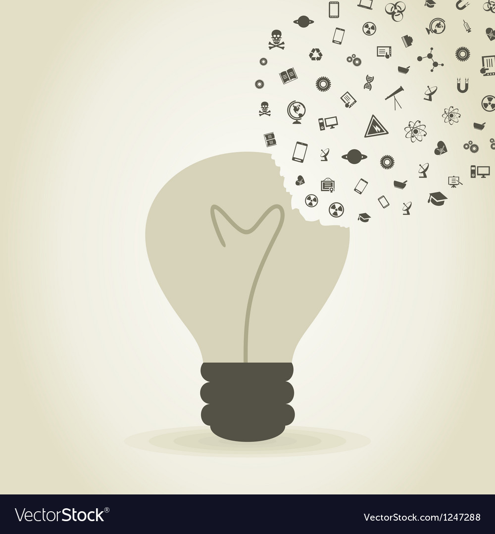 Bulb a science2 vector image