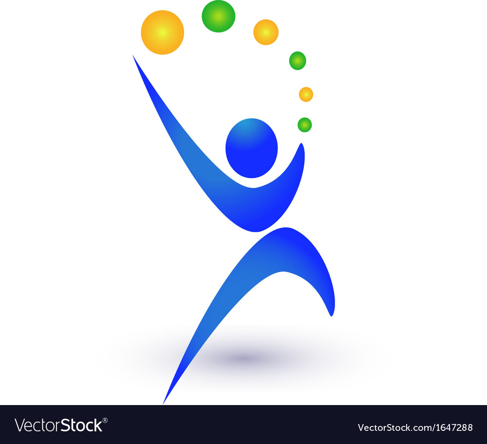 Person in motion logo vector image