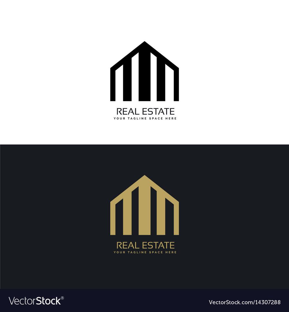 Creative real estate logo design concept vector image