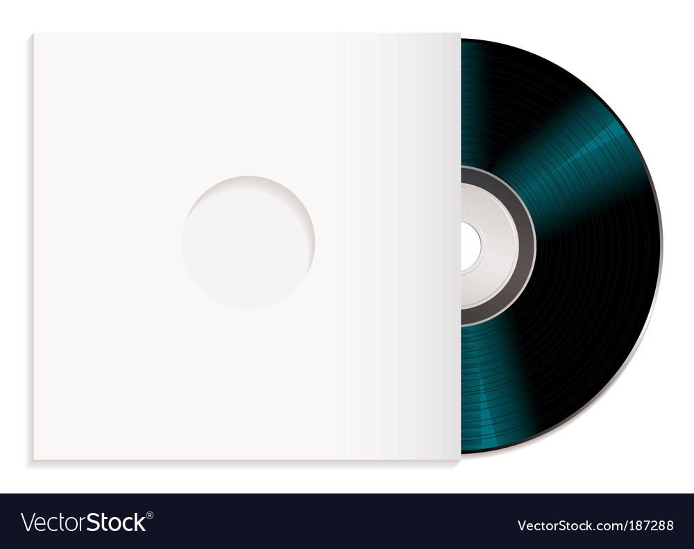 Shiny cd and case vector image