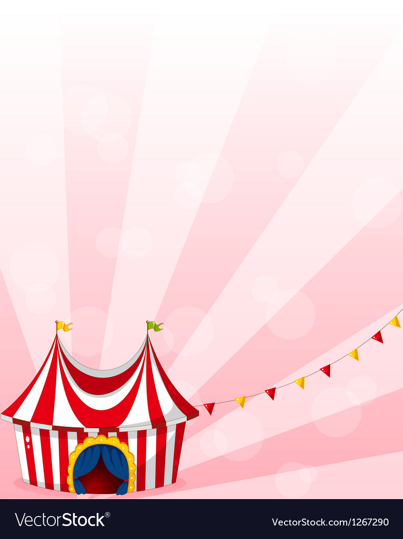 A stationery with a circus tent design vector image & A stationery with a circus tent design Royalty Free Vector