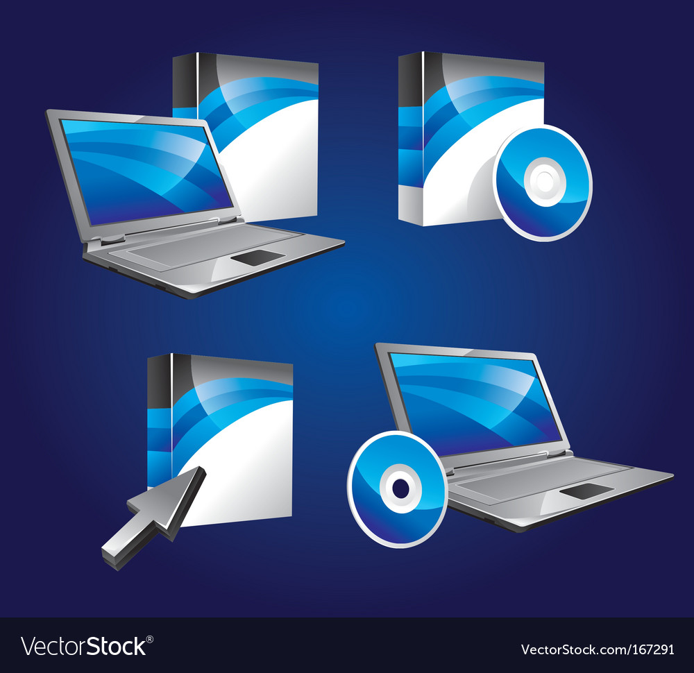 Product software icons royalty free vector image Vector image software