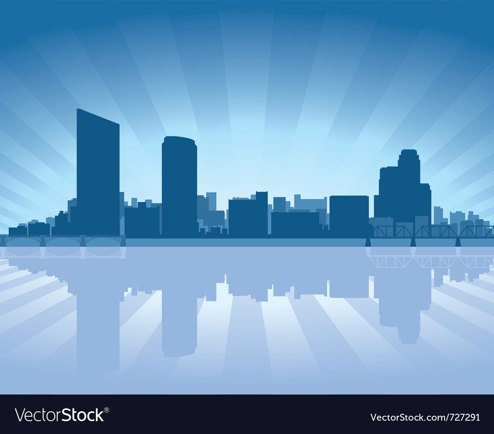 Grand rapids michigan skyline vector image