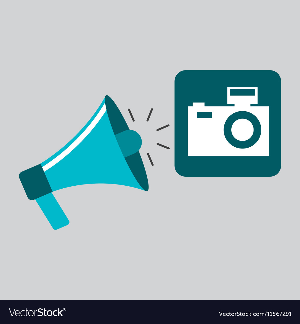 Marketing digital photo camera concept vector image