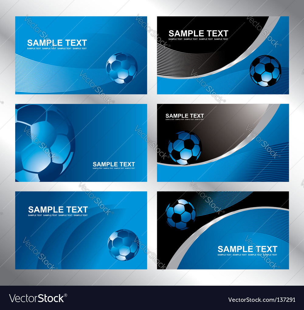 Various soccer card vector image