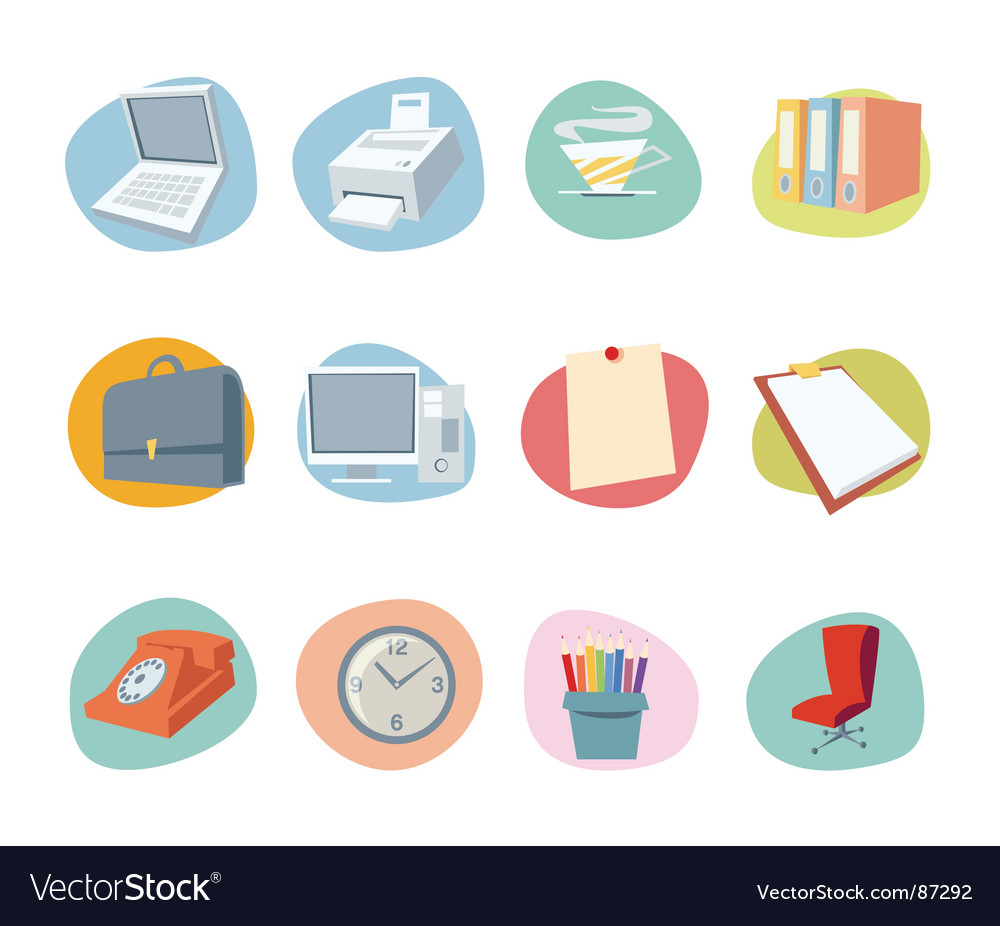 Universal icons retro revival collection vector image