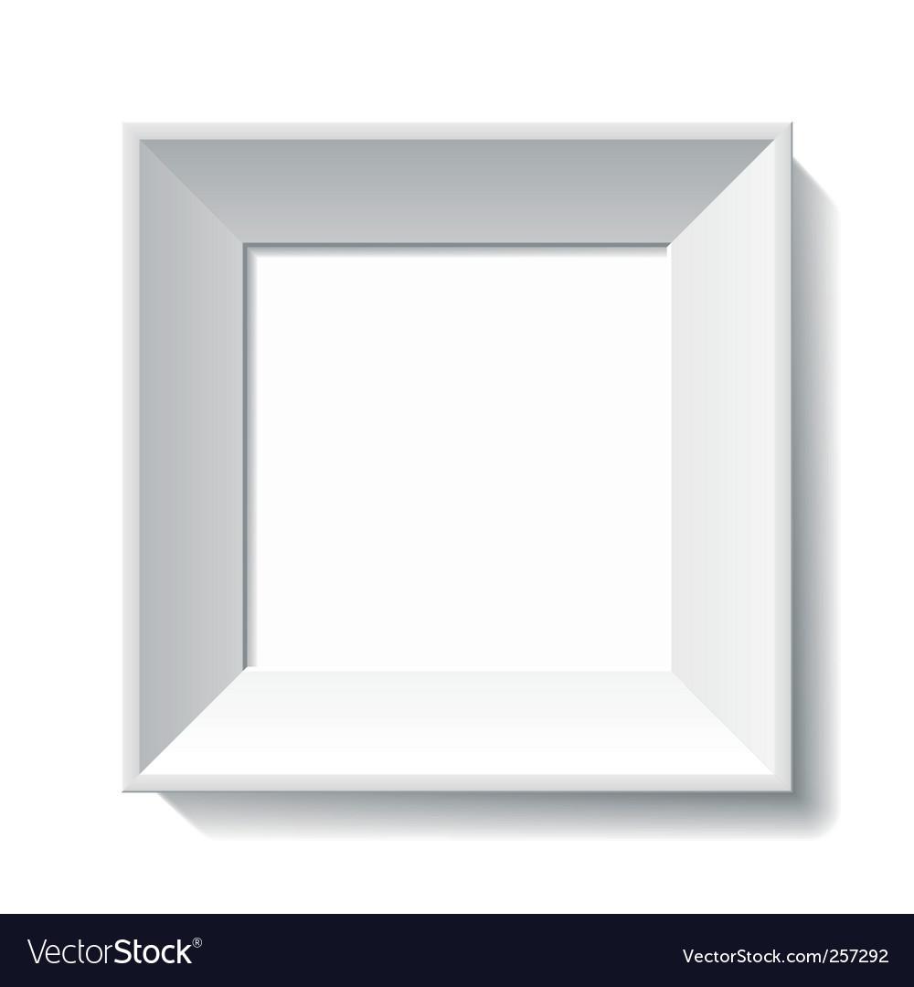 white photo frame royalty free vector image vectorstock