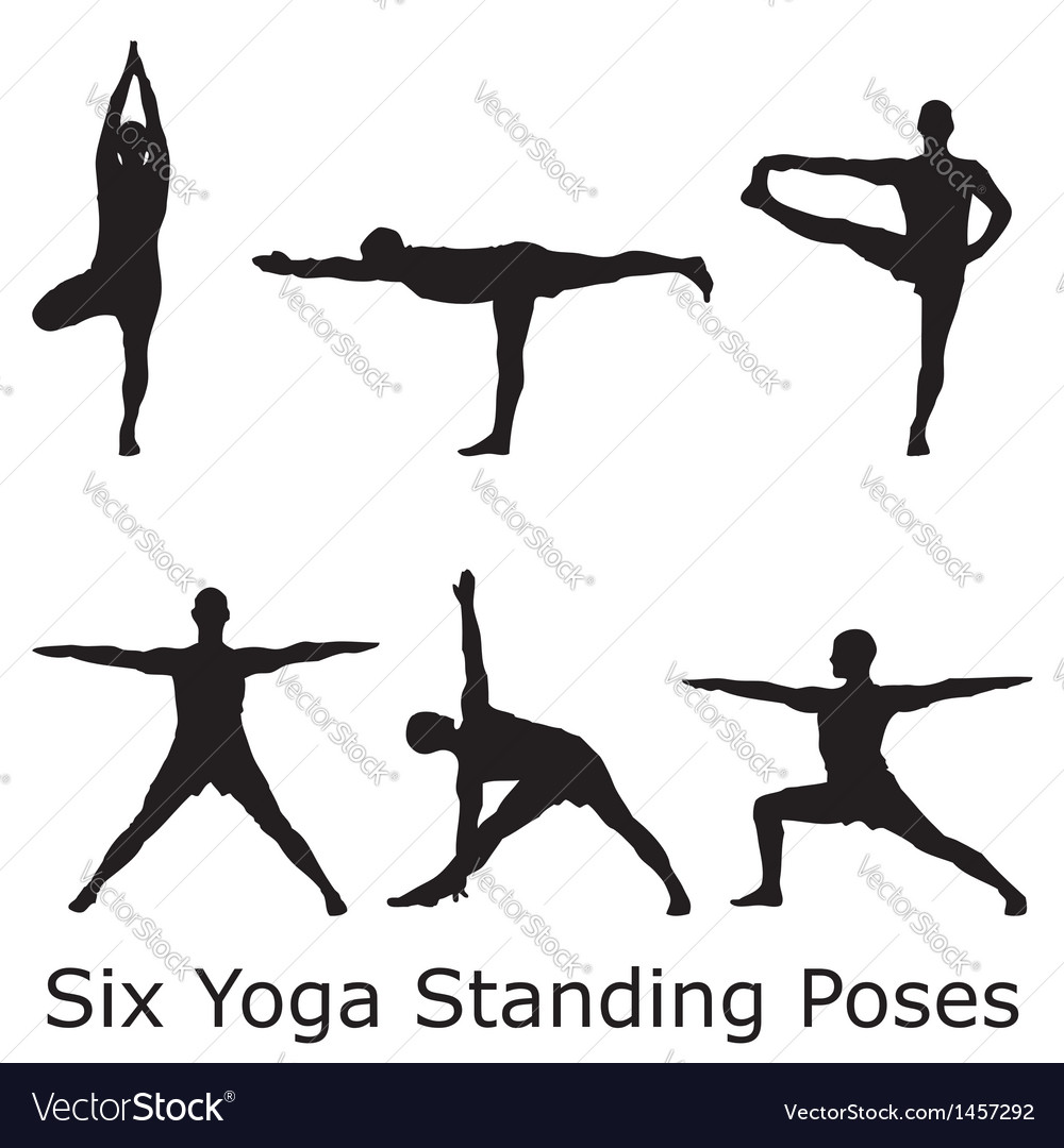 Yoga standings vector image