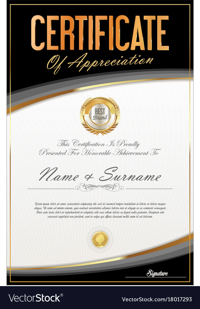 certificate of achievement or diploma template vector image certificate of achievement or diploma template 9 vector image