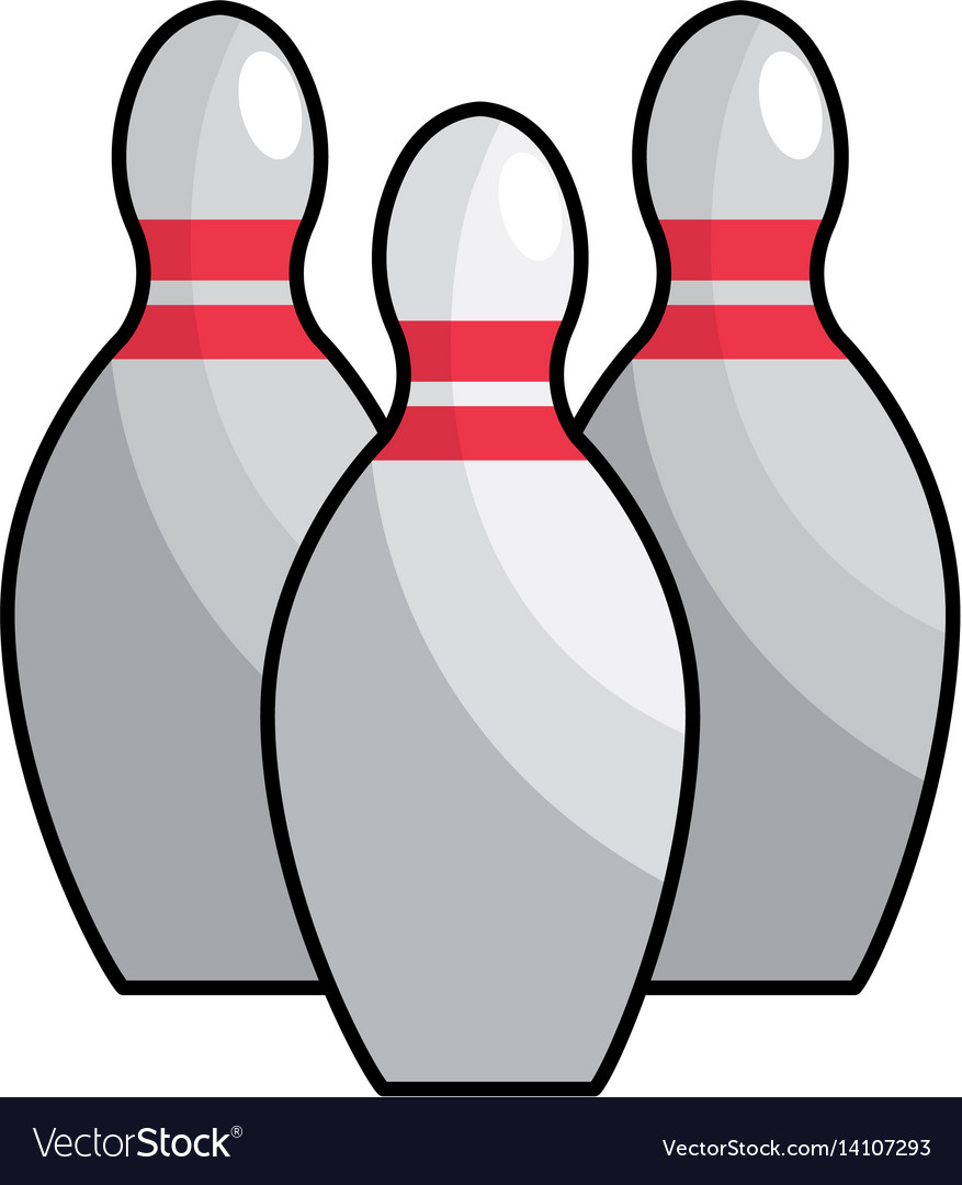 color bowling funny play icon vector image - Bowling Pictures To Color