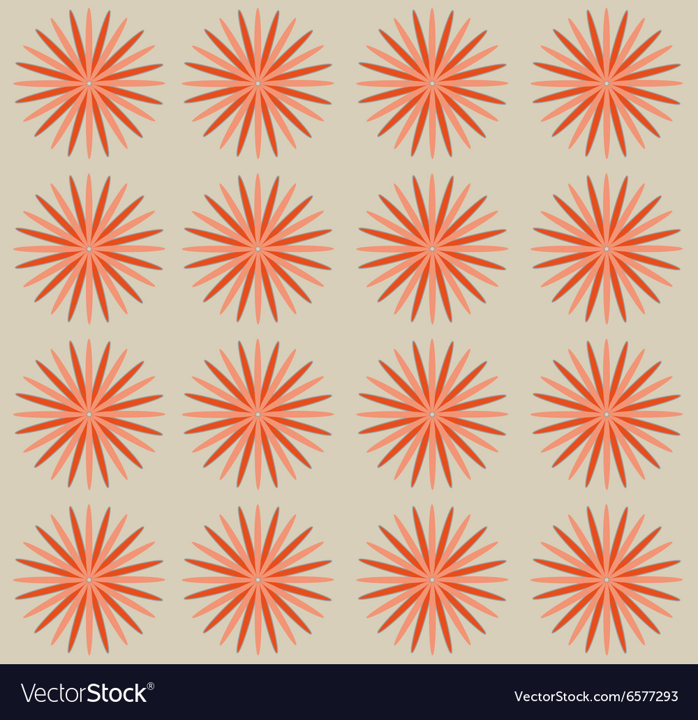 Pastel pink flowers on beige backdrop vector image