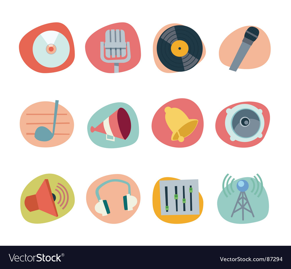 Music icons vector image