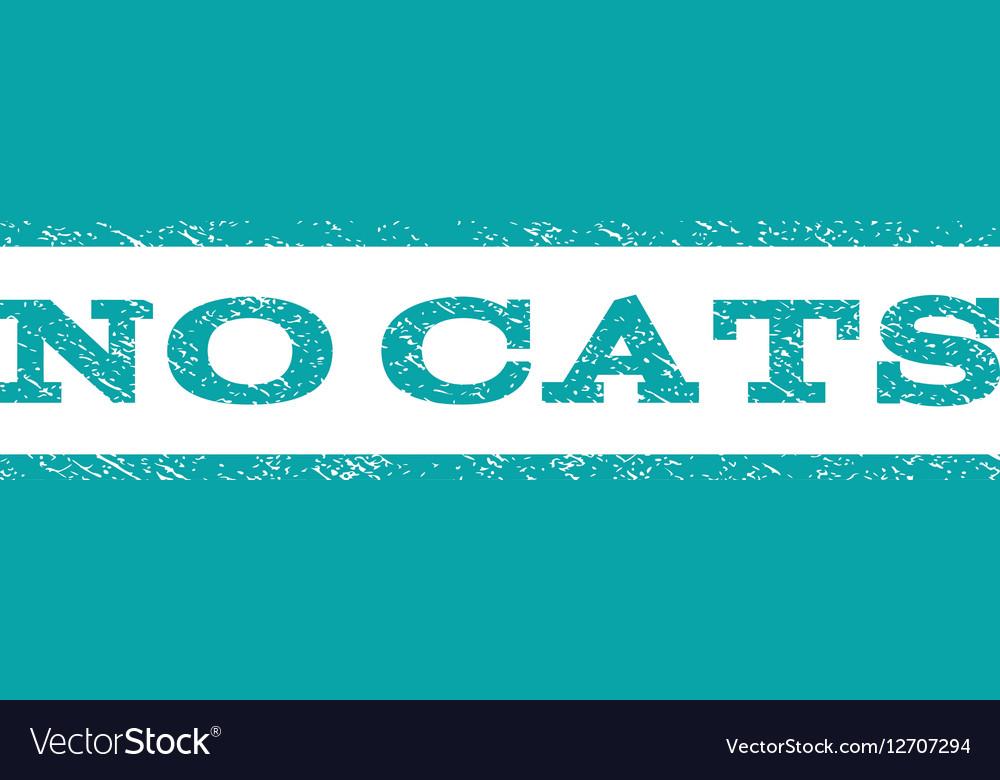No Cats Watermark Stamp vector image