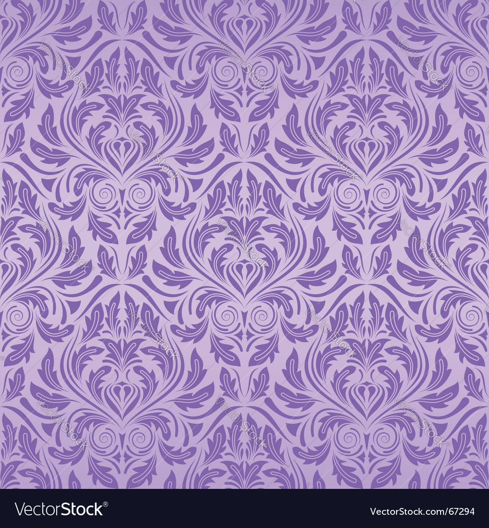 Violet seamless wallpaper vector image