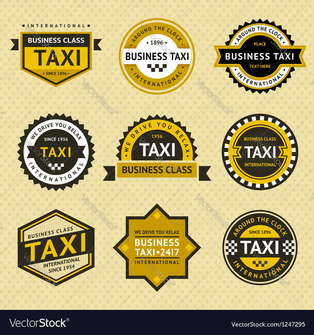 Taxi insignia - vintage style Vector Image