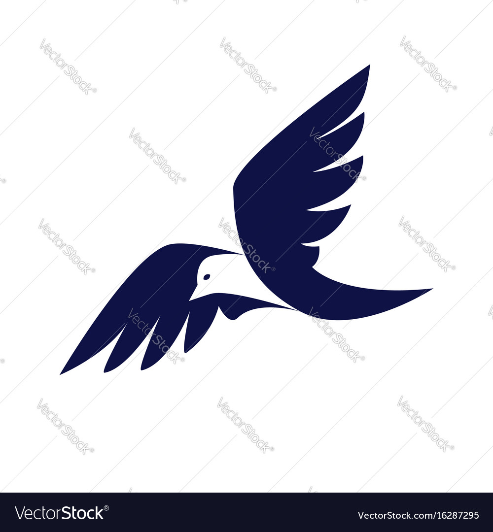 Bird business logo vector image
